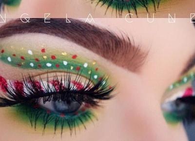 Świąteczna makijaże z Pinterest