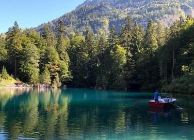 Blausee w Szwajcarii - zwiedzamy malownicze jeziorko