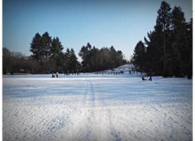 Park Grabiszyński zimą, Cmentarz Grabiszyński III, dzieci niewybuchy