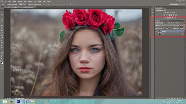 Tutorial - Retusz niedoskonałości skóry oraz redukcja cieni pod oczami. Photoshop CS6