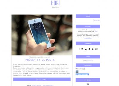 5. Blue HOPE-DARMOWY SZABLON