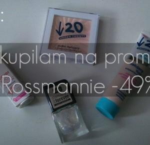 HAUL: Co kupiłam na promocji w Rossmannie -49%?   KONKURS