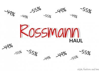 Co kupiłam na promocji w Rossmannie -49%,-55%? | HAUL