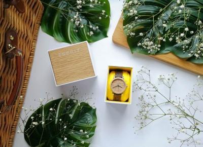 Zegarek z drewnianą tarczą Esprit ES1L030L0025 - nietuzinkowy dodatek modowy
