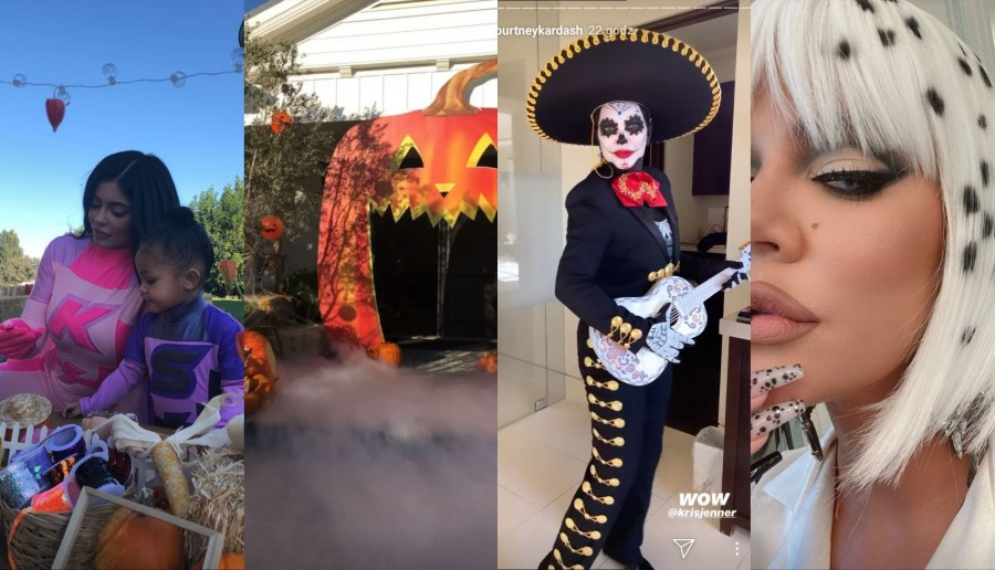 Halloween według Kardashianek