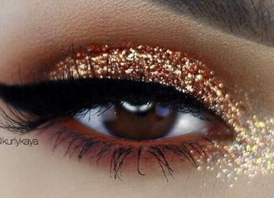 makijaż brokatowy - inspiracje