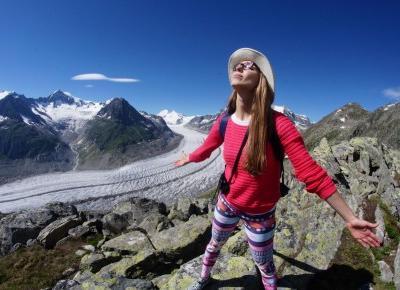 Pzejażdżka na lodowiec - czyli szwajcarskie serpentyny i Eggishorn