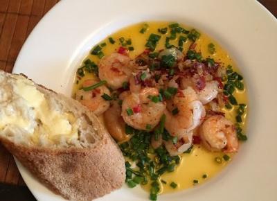 Przepisy kulinarne - krewetki klasyczne - mas?o - czosnek - chilli  | Over The Heaven
