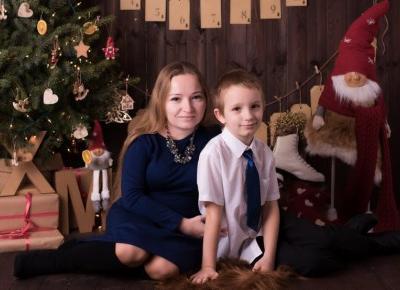Świąteczna sesja mamy i synka - Pani Miniaturowa