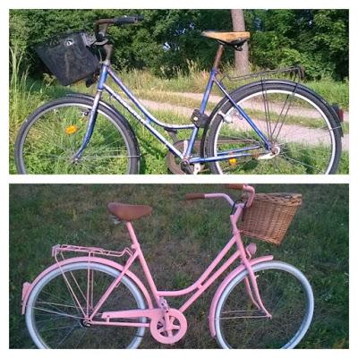 Podróż na Księżyc...: Odnawianie roweru! Vintage bicycle!