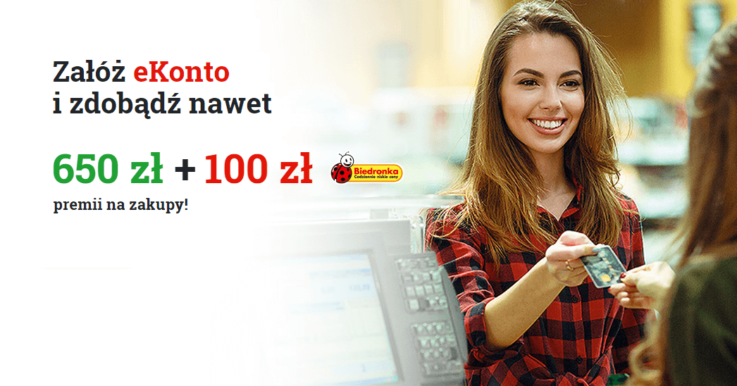 Zyskaj nawet 750 zł za eKonto w mBanku!