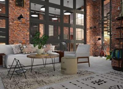 Salon, styl loftowy. Detale, które robią różnicę. - LuxDecori.pl