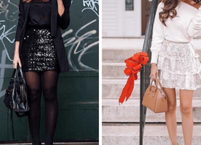 Świąteczne kreacje PART 1 - cekinowe spódniczki