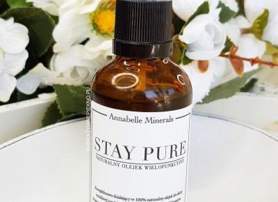 Annabelle Minerals Stay Pure - naturalny olejek wielofunkcyjny do demakijażu i pielęgnacji