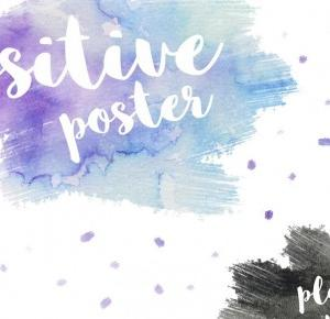 SaraH: Positive poster: PLAKATY DO DRUKU