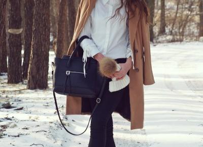 BROWN COAT & WHITE BLOUSE - Sensiblees ❤