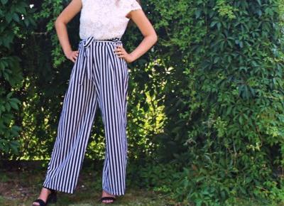 Lifestyle według blondynki: BLACK & WHITE STRIPS CULOTTE I Q&A