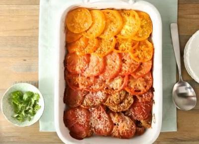 Zapiekanka z pomidorów idealna na przyjęcie w ogrodzie! PRZEPIS! | Diety i ich sekrety