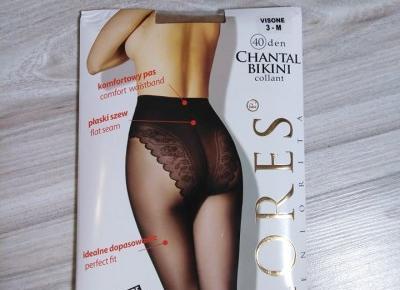Cieliste Rajstopy Lores Chantal Bikini 40 Den - Testerki Rajstop