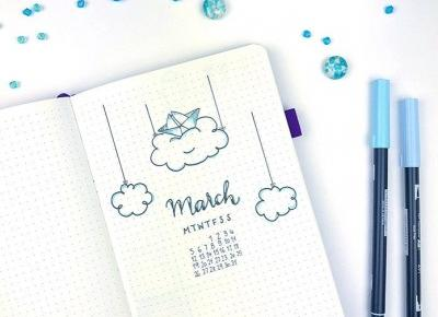 Bullet journal - plan with me: Marzec 2019