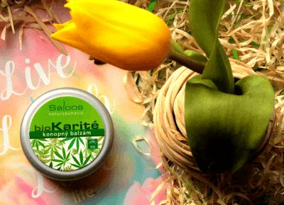 Toksyczna kosmetyczka: Niezwykłe właściwości oleju z nasion konopi siewnej w balsamie Bio karité od Saloos Naturcosmetic (ecostory.pl).
