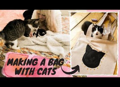 Jak zrobić torbę na zakupy? DIY dla miłośników kotów! TUTORIAL 😻 z kotami 😻