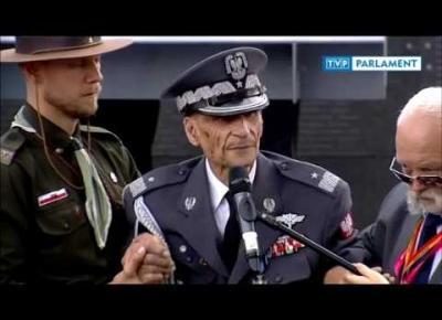 Wzruszające przemówienie 100-letniego Powstańca Warszawskiego śp. gen. Zbigniewa Ścibor- Rylskiego z przed roku.