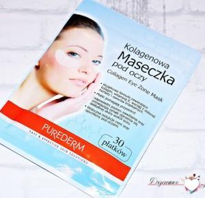 Drzemiące-Piękno: Purederm, Collagen Eye Zone Mask Kolagenowa maseczka pod oczy..