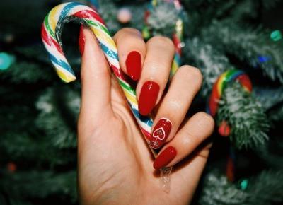 Świąteczne paznokcie z hi hybrid!
