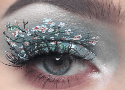 Trompe l'oeil eye make-up