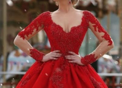 Red Long Sleeve 2017 Prom Dress---www.27dress.com