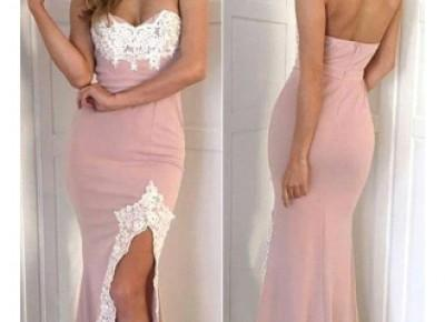 Gorgeous Split Appliques Lace Mermaid Long Sweetheart Prom Dress_2017 Prom Dresses_Prom Dresses_Special Occasion Dresses_High Quality Wedding Dresses, Prom Dresses, Evening Dresses, Bridesmaid Dresses