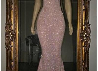 sequins pink mermaid prom dress--www.27dress.com