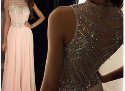 Crystal Chiffon Prom Dress--27dress.com