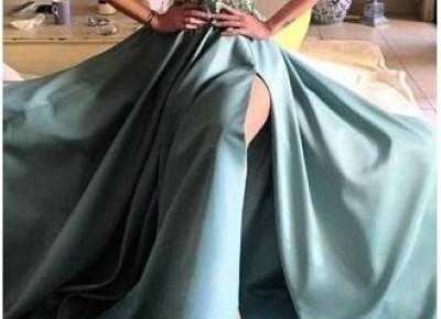 One Shoulder Split prom Dress--www.27dress.com
