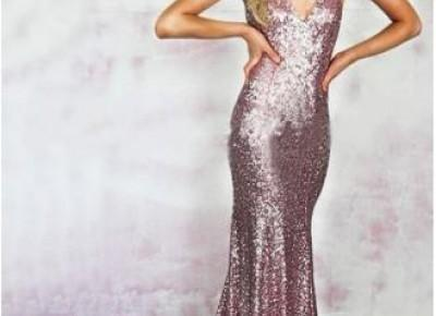 Sexy Sequins V-Neck Mermaid Prom Dress.--www.27dress.com