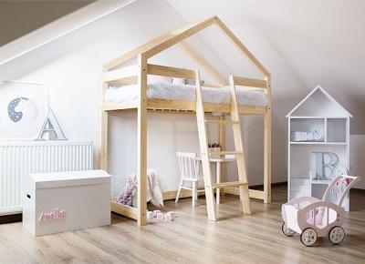 Dziecięce łózko domek- udany wypoczynek i dzikie zabawy w jednym miejscu - Wnętrza dla Ciebie
