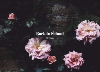 Back to School | Czcionki