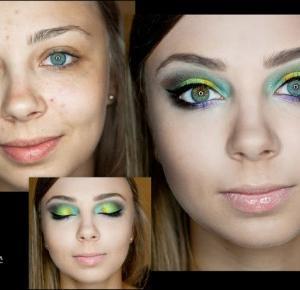 Tutorial - Makijaż sesyjny - makijaż Hippie, kolorowo   produkty