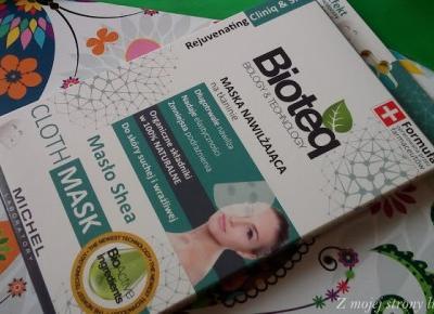 Bioteq maska nawilżająca na tkaninie | Z mojej strony lustra - blog kosmetyczny