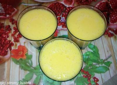 Z mojej strony lustra: Moje koktajlowe wymysły #2 - inspiracja Tymbarkiem brzoskwinia - pomarańcza