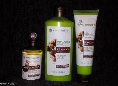 Yves Rocher: zestaw do włosów bardzo suchych lub kręconych (olejek, szampon, odżywka d/s) | Z mojej strony lustra - blog kosmetyczny