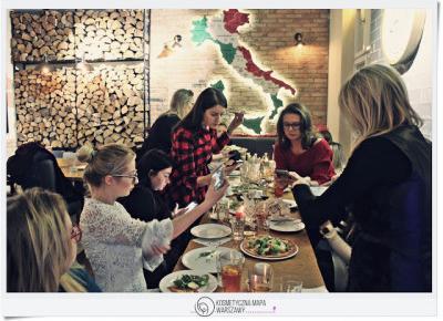 Kosmetyczna Mapa Warszawy - Zimowe spotkanie influencerek - Pizza Dominium | Z mojej strony lustra - blog kosmetyczny