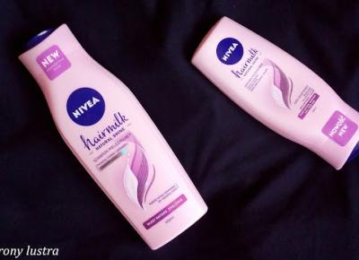 Z mojej strony lustra: NIVEA hairmilk Natural Shine pielęgnujący szampon i odżywka do włosów (d/s)