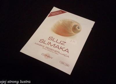 Z mojej strony lustra: Conny regenerująca maska do twarzy ze śluzem ślimaka
