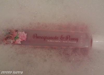 Avon płyn do kąpieli granat&piwonia; | Z mojej strony lustra - blog kosmetyczny