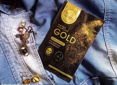 BeBeauty maska w płacie Premium Gold odmłodzenie | Z mojej strony lustra - blog kosmetyczny