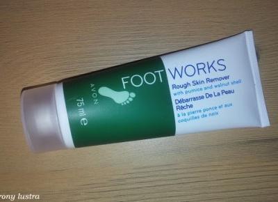 Złuszczający peeling do stóp Avon FootWorks | Z mojej strony lustra - blog kosmetyczny