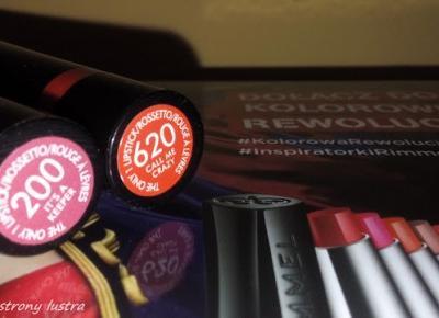 Kolorowa Rewolucja Rimmel: Szminki The Only 1 | Z mojej strony lustra - blog kosmetyczny