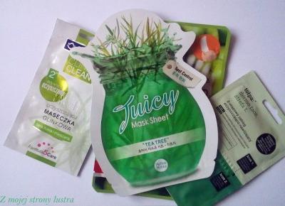 Holika Holika Tea Trea Juicy oczyszczająco-ściągająca maseczka do twarzy | Z mojej strony lustra - blog kosmetyczny